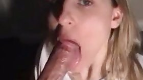 That slut is a true magician and she can make my dick disappear down her throat