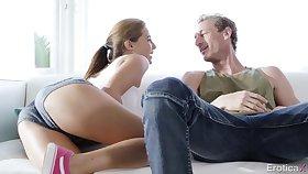 Pass muster kissing board during circumference dance fun GF Carolina Candy enjoys sideways