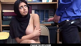 Hot Muslim Teen Blackmailed coupled with Fucked For Shoplifting