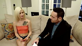 Sexual delight be incumbent on a thin blonde with tiny tits