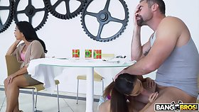 Fine missionary and doggy for the stepdaughter