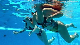 Hot with an increment of sexy synchronous swimming with lovely Diana Rius