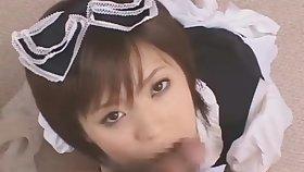 Azusa Itgaki Japanese teen blowjob cum mouth